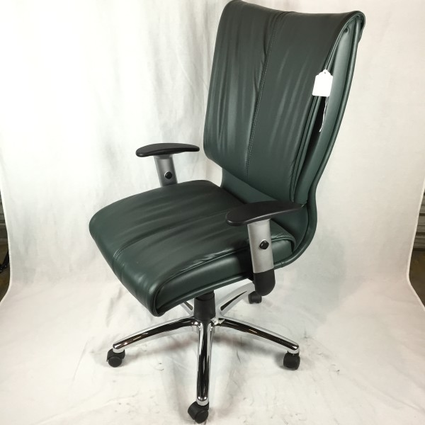 Green Leather Chair Green Office Furnishings New And